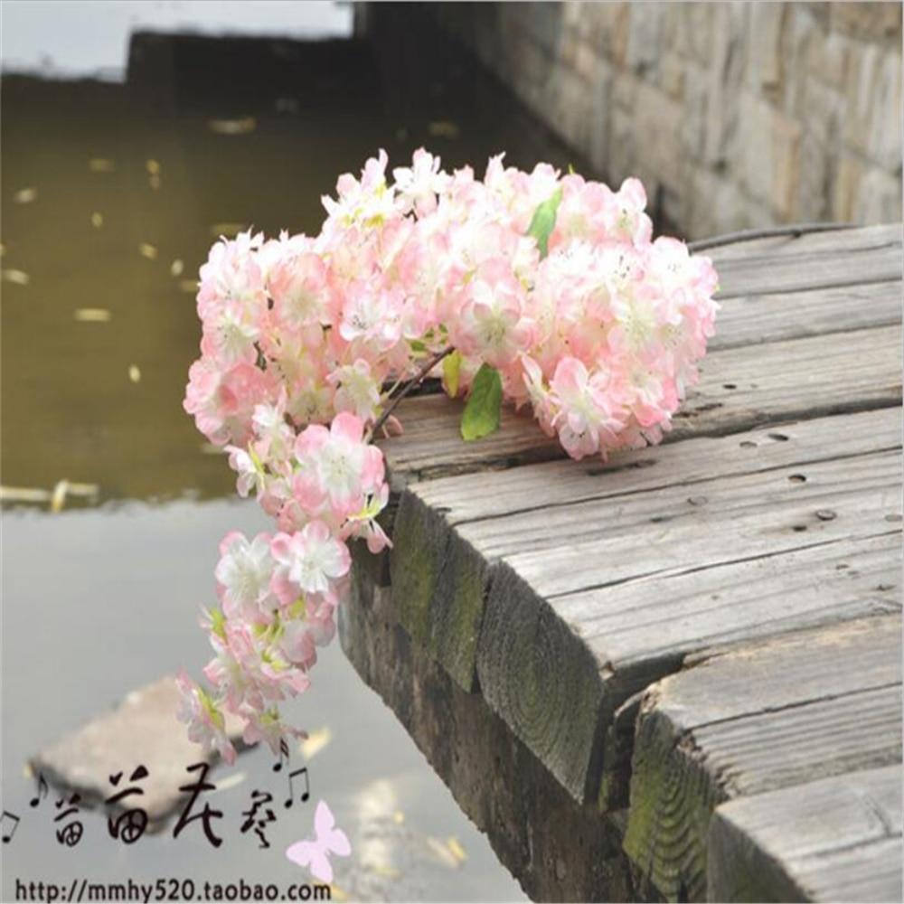 Wedding Simulation Artificial Flower Cherry Blossoms Artificial Silk