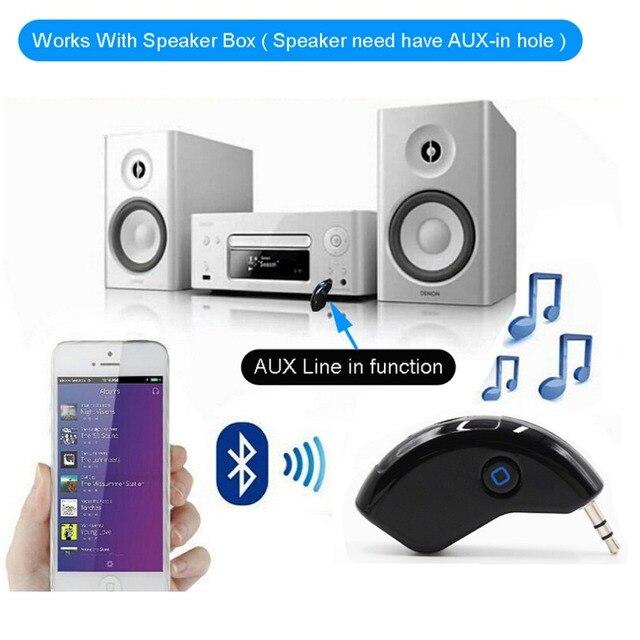 XCGaoon adaptateur récepteur musique Bluetooth   Kit mini voiture Bluetooth, Support mains libres, ligne AUX Out, pour téléphone portable