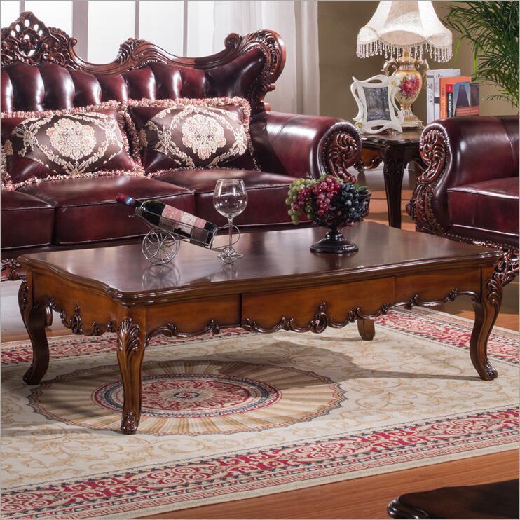 Купить с кэшбэком high quality  European  antique living room sofa furniture genuine leather set p10289