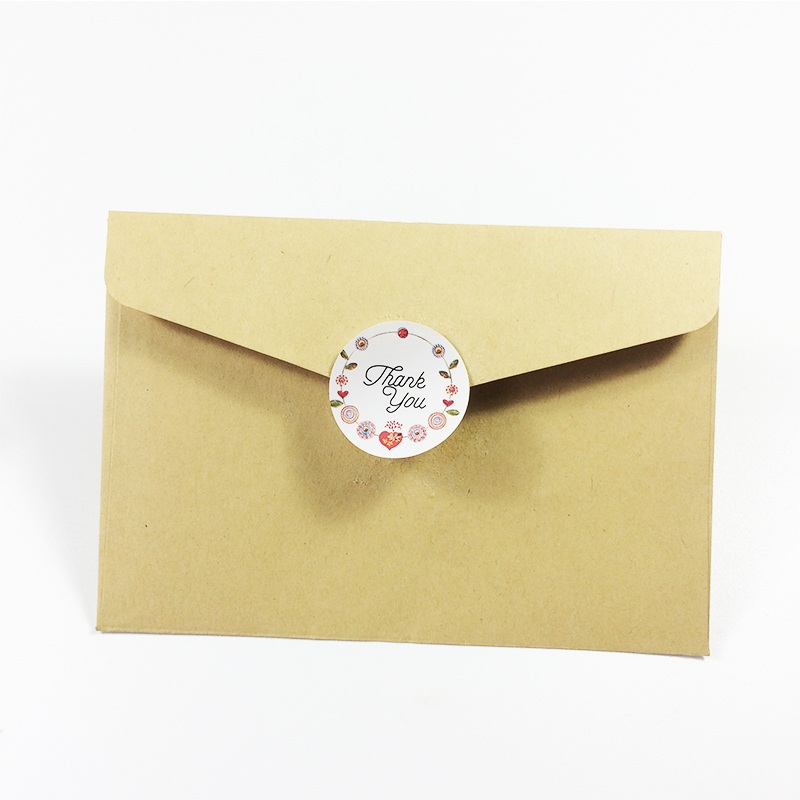 Купить с кэшбэком 120pcs Flower Thank you Adhesive Baking Seal Sticker cake box sealing label handmade