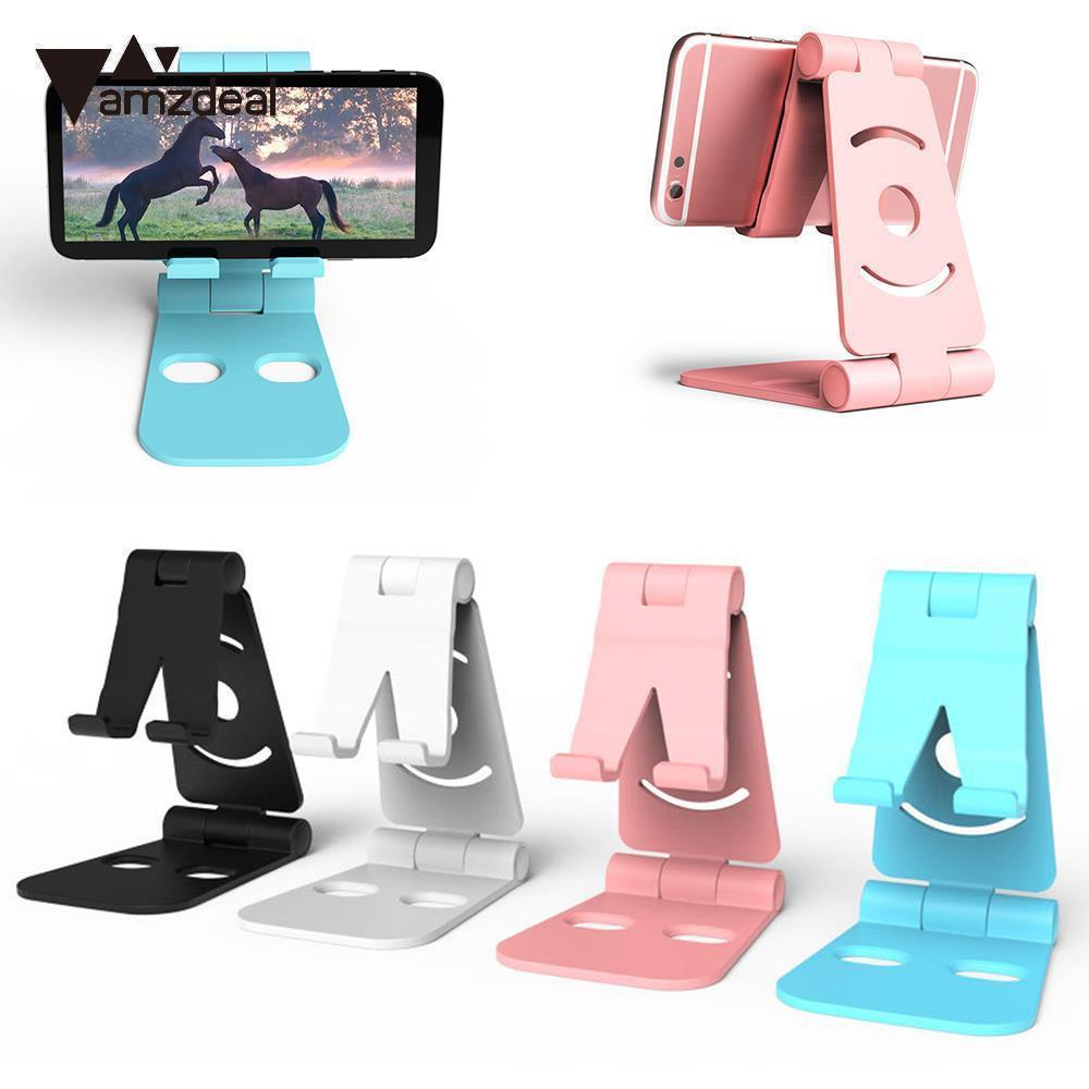 AMZDEAL Portable Universal Tablet Holder Mobile Phone Holder Support Bracket Foldable Accessories