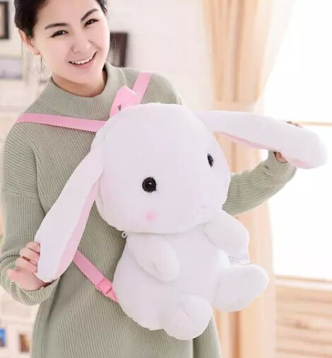 Gift for baby 1pc 60cm funny Amuse LOLITA rabbit long ear bunny plush backpacks cute students shoulder bag Satchel girl lady toy rabbit lop english lop lolita style kawai quality plush bag cartoon shoulder bag anime toy best gift for children and girls