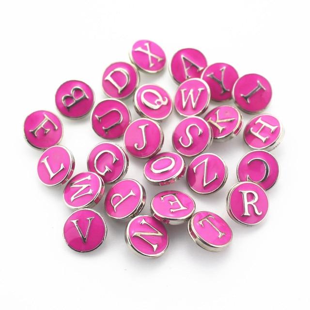 Купить 26 шт/лот эмаль черный a z алфавит кнопки подходят для 12 мм