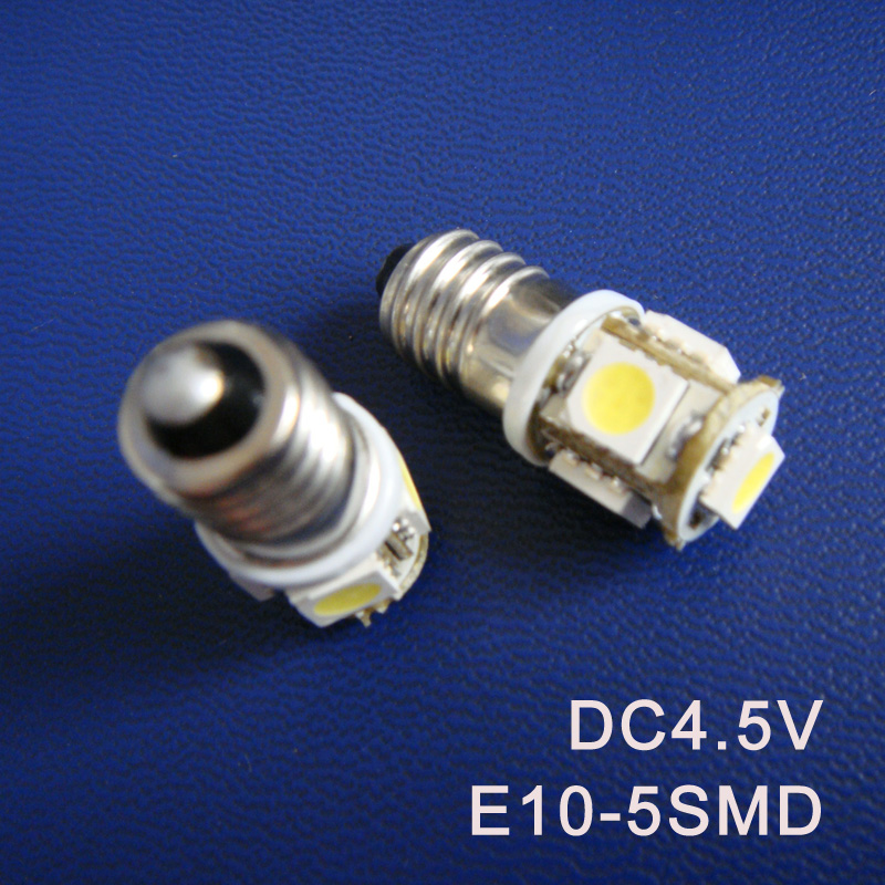 High quality DC4.5V E10 Led Warning Signal Indicating Lamp Pilot lamp Instrument Light pinballs Bulbs free shipping 50pcs/lot