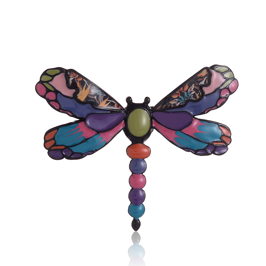 Creative Dragonfly Brooch Female Enamelled Zinc Alloy Pin Women Clothing Accessories Fashion Jewelry Valentines Gift 2019 New in Brooches from Jewelry Accessories