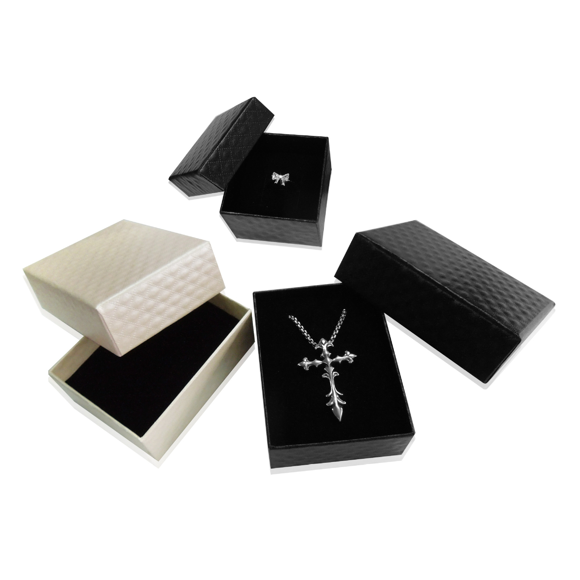 Jewelry Gift Box, Ring Pendant, Ear Pin Packing Box, Fashionable Exquisite black white Packing Box