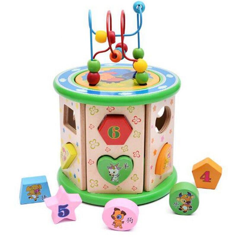 WYNLZQ enfants perle rouleau montagnes russes labyrinthe Puzzle jouet en bois perle labyrinthe bois début jouet éducatif pour bébé enfants enfants jouet nouveau