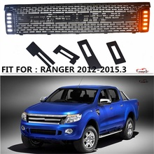 CITYCARAUTO  RANGER T6 Racing grill grille ABS black front grill with led turn light trim fit for Ranger 2012 wildtrak T6 txl