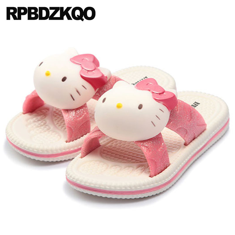 8943dcf8339 Detail Feedback Questions about cartoon embellished hello kitty most  popular products animal bathroom slip on women pink indoor house shoes  slippers home ...
