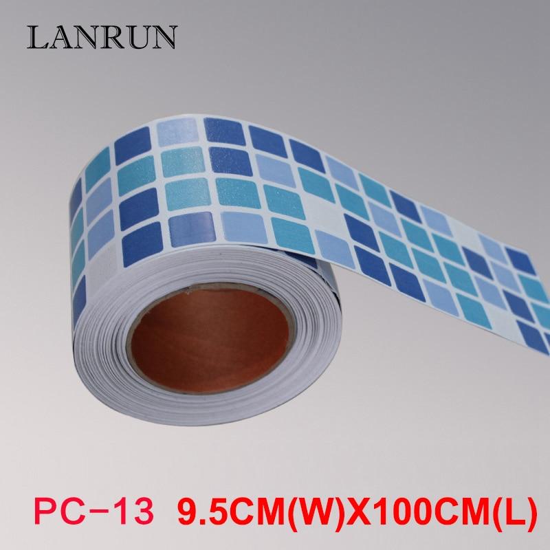 5M Waist Line Wall Sticker Köksvrist Linje Lim Toalett Badrum - Heminredning - Foto 3