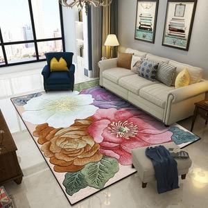 Nowy klasyczny zwykłe kwiatowe wzór dywan 3D drukowanie przedpokój dywany do salonu dywaniki do sypialni kuchnia wanna przeciwpoślizgowe maty