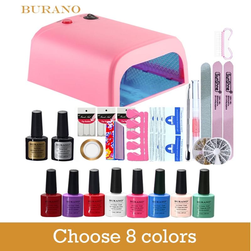 Burano soak off gel manicure set choose 8 colors new prinsesfo Images