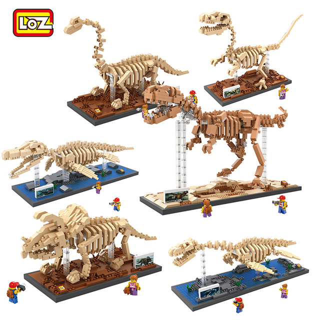 LOZ blocks Dinosaur Fossil Series LOZ New Mega Educational Building Blocks DIY Assemble Mini Bricks Model Toys Best Gift
