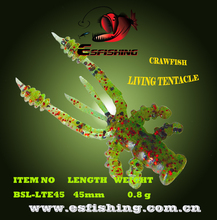 Ice Fishing Lure Soft Bait 10pcs 4.5cm/0.8g Esfishing Floating Shrimp  Crawfishing Living Tentacle  Artifciais Lures Soft Bait