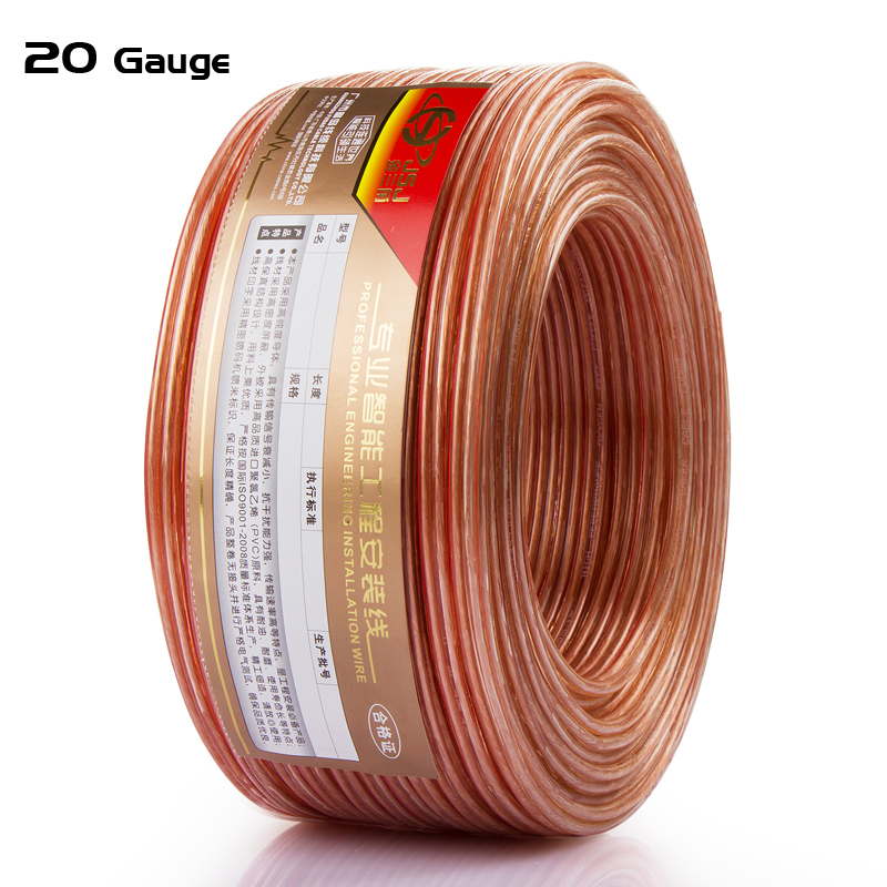 Loud Speaker Wire 20 Gauge DIY HIFI OFC For Home Theater DJ System Transparent Audio Line High End Car Speaker Stereo Cable