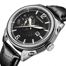2016 Watches Men Luxury AR Top Brand GUANQIN New Men's Big Dial Designer Quartz Watch Male Wristwatch relogio masculino relojes
