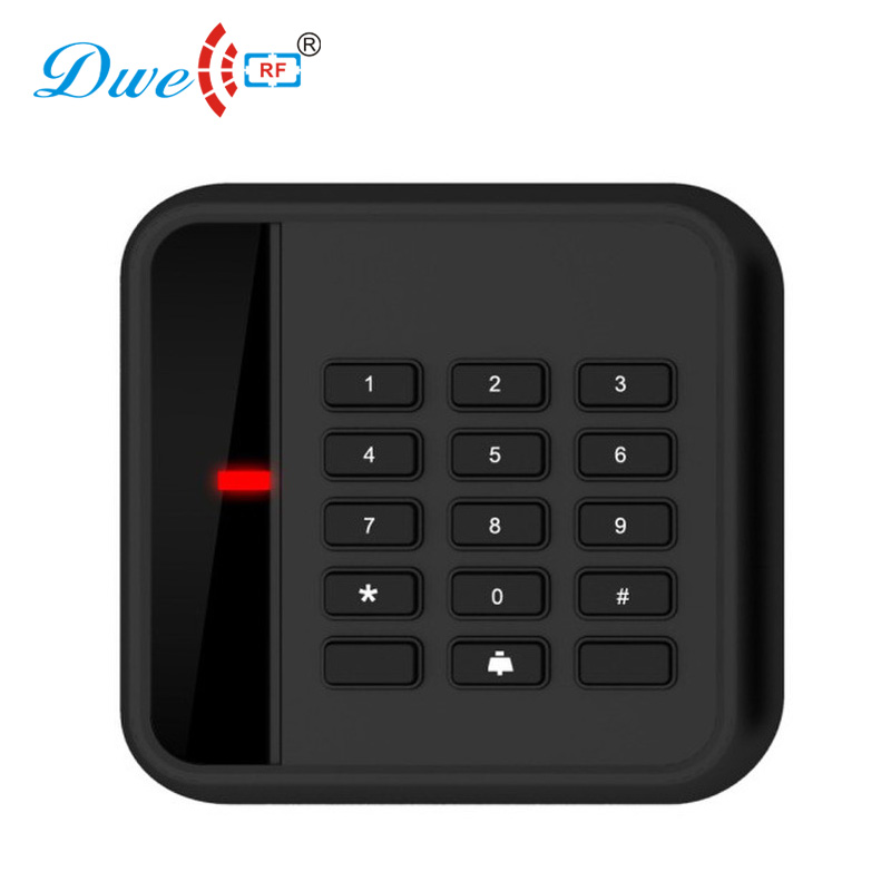 DWE CC RF Apartment system wiegand rfid access control card reader electronic tag reader black key proximity reader digital electric best rfid hotel electronic door lock for flat apartment