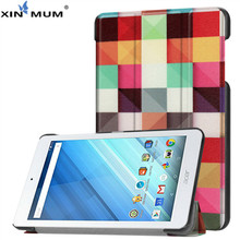 XIN-MUM Auto Sleep Wake PU Leather Case For Acer Iconia One 8 B1-860 B1 860 Funda Tablet Case Cover for Iconia One 8 B1-860 bqtparts 7 inch b1 730hd lcd screen for acer iconia one 7 b1 730hd display lcd screen