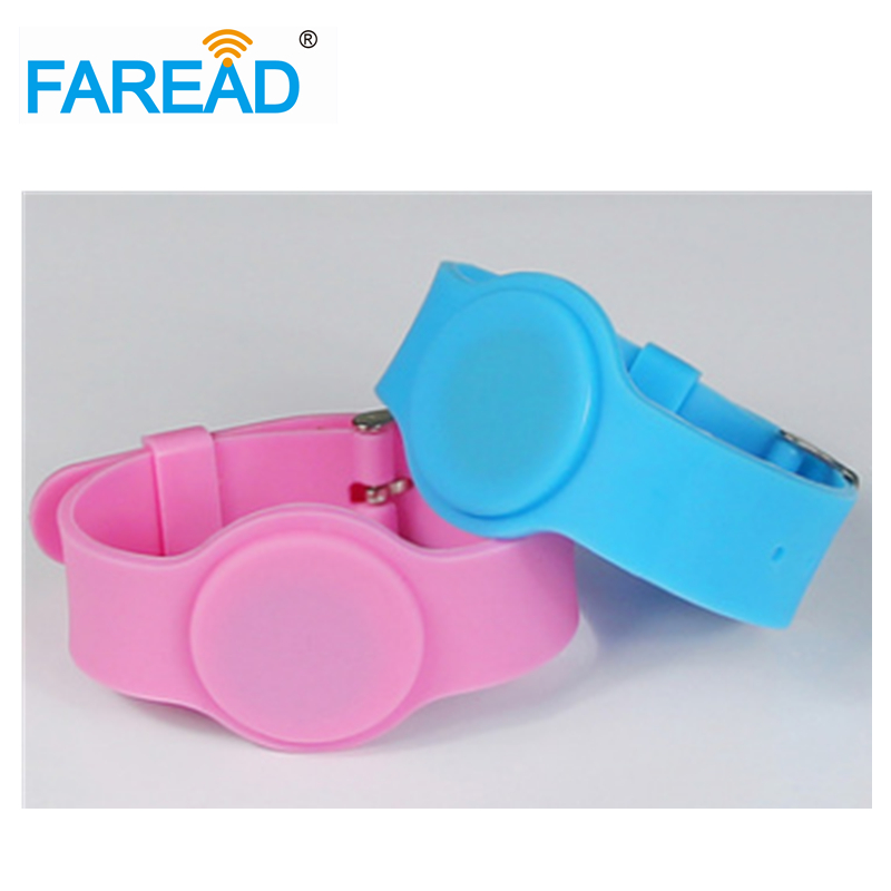 X100pcs Free Shipping  RFID Wristband  For Swimming Pool Sauna Room GYM 13.56mhz I-CODE-2