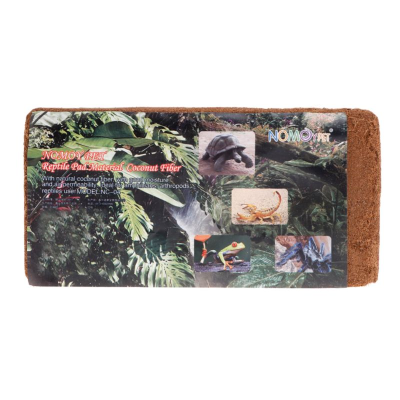 Reptile Brick Coconut Natural Bedding Pad For Amphibians Reptiles Animal Pets Supplies Substrate Safe Wet Warm Snake Turtle