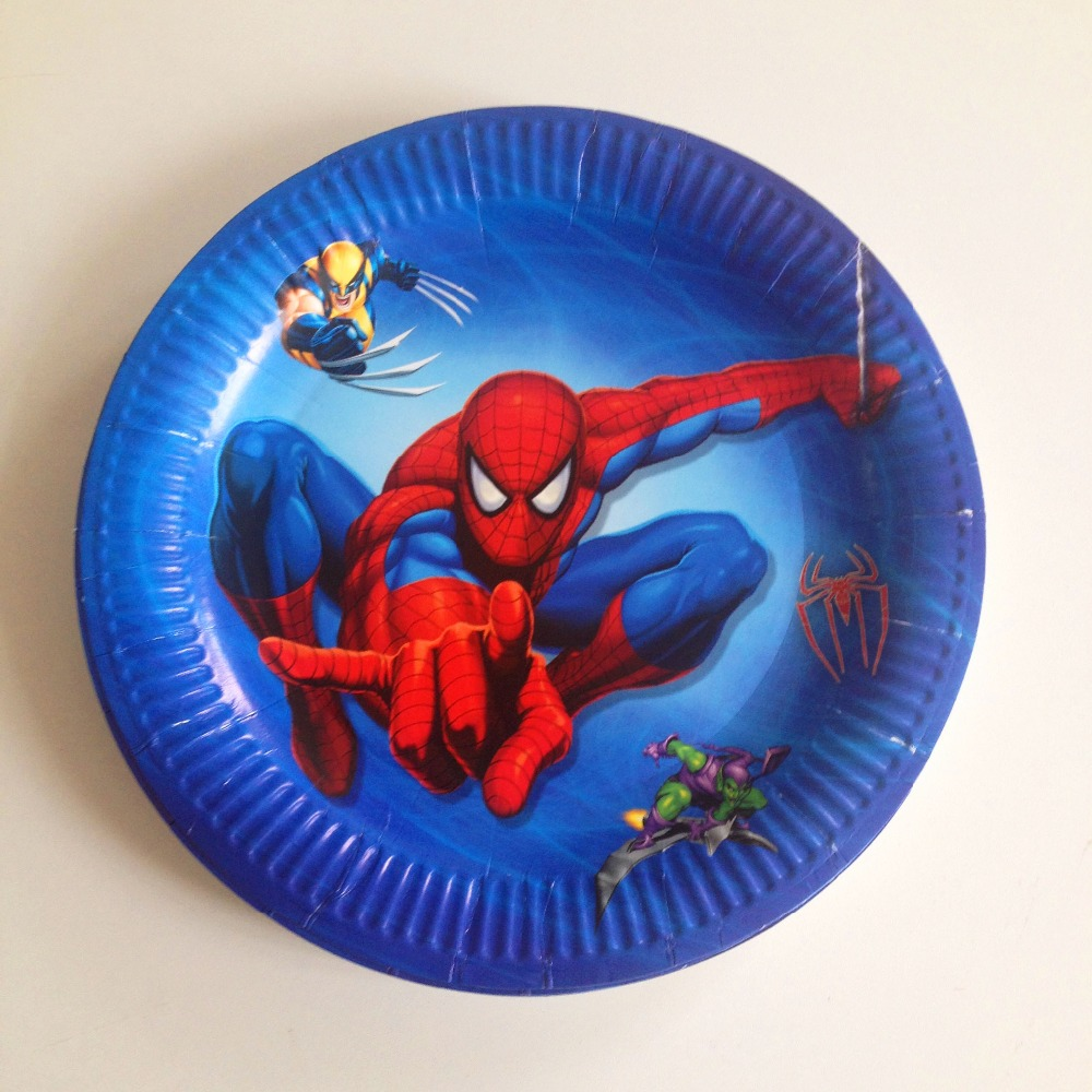 HOT 10pcs/set Spiderman Plate Cartoon Theme Party For Kids Happy Birthday Decoration Theme Party Supply spiderman party supplies-in Disposable Party ... & HOT 10pcs/set Spiderman Plate Cartoon Theme Party For Kids Happy ...