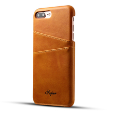 Men's Stylish Leather Phone Case for iPhone