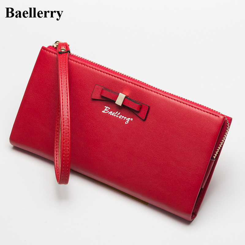 2017 New Designer Wallets Women Brand Leather Fashion Long Red Coin Purses Female Clutch Phone Wallets Money Bags Card Holders
