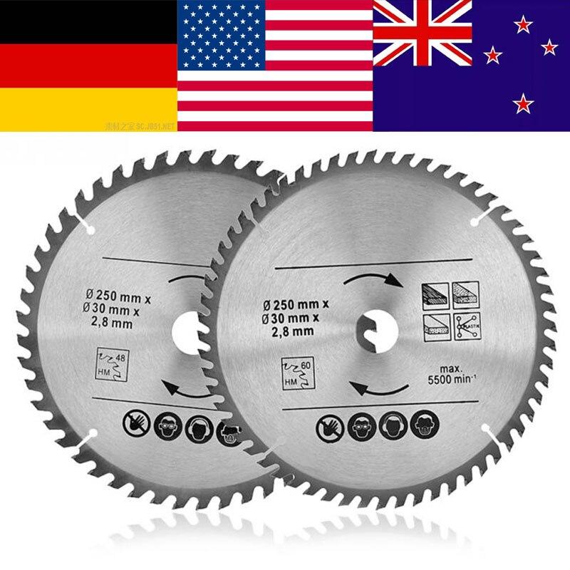 Cutting Disc Blade Woodworking-Tools Circular Saw 60-Teeth 300mm 250 TCT 48