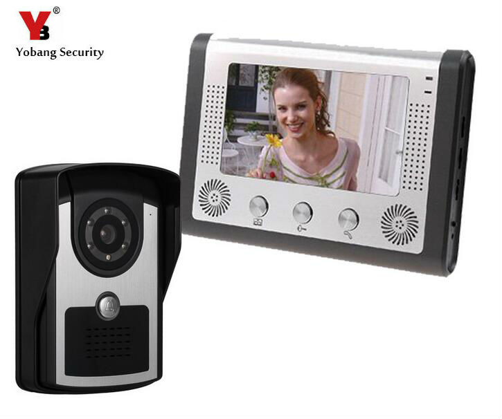 Yobang Security Video Intercom Doorphone IR Waterproof Camera Monitor Kit for Home Security 12 Kinds Of Doorbell Rings Door I