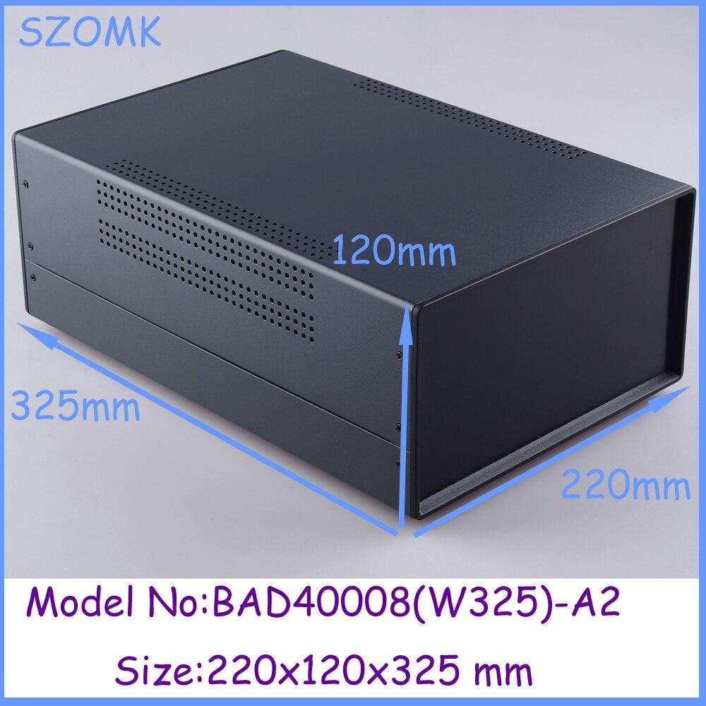 1pcs 220x120x325mm metal enclosure switch box diy iron electronics box instrument case housing case for