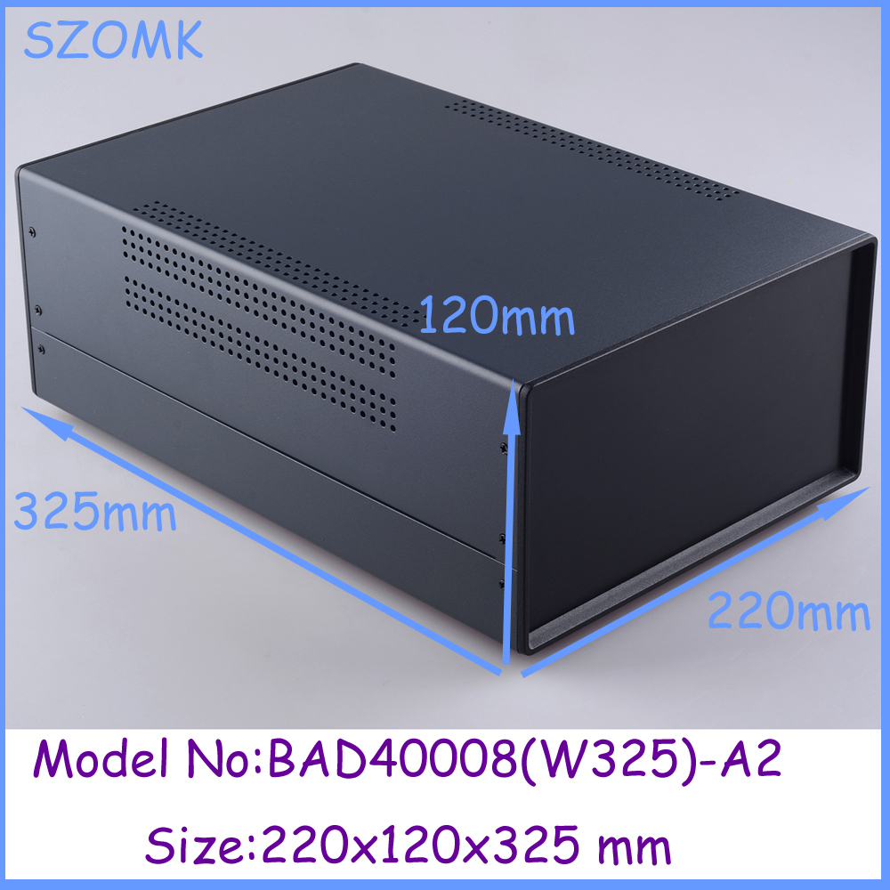 (1pcs)220x120x325mm metal enclosure switch box diy iron electronics box instrument case housing case for pcb extrusion enclosure aluminium housing metal electronics box diy aluminum enclosure ygs 036 96 45 5 140mm wxh d