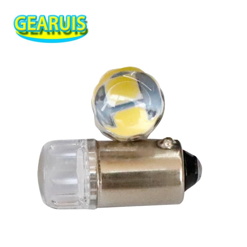 12v Side Light//Interior Bulb 1x Red Quad LED 233,T4W,BA9S