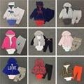 Детская одежда пальто + комбинезон + брюки 3 шт. набор мальчик девочка Флис и хлопок костюм bebes meninos весной осень детская одежда