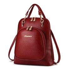 Прекрасный Корейский стиль женщины рюкзак Высокое качество Мода Опрятный Стиль рюкзаки для девочек-подростков маленькие женские дорожные сумки