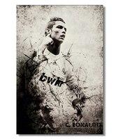 Custom Cristiano Ronaldo Poster Home Decor Soccer Balls Wallpaper Madrid Wall Paper CR 7 Football Wall