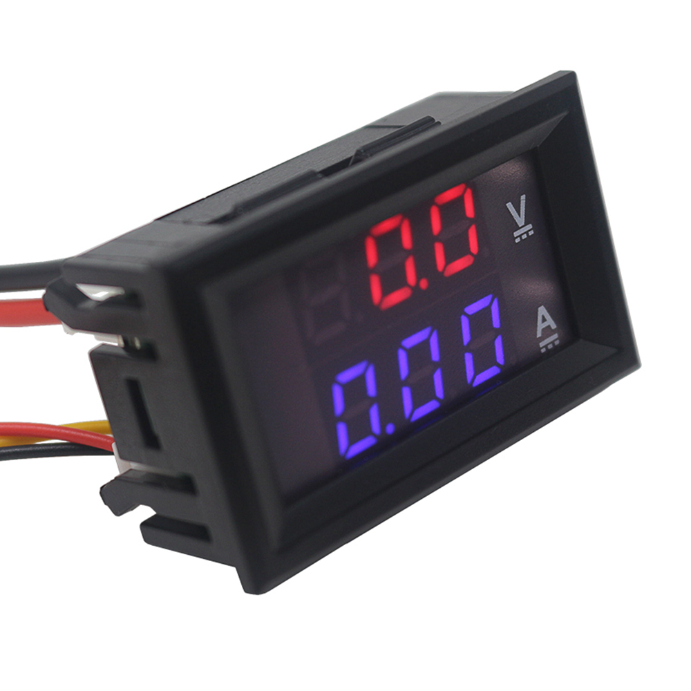 Digital Ammeter Voltmeter <font><b>DC</b></font> 100V 10A 50A <font><b>100A</b></font> Amp Meter Volt panel Voltage Current Meter Tester Gauge Dual LED Auto Car image