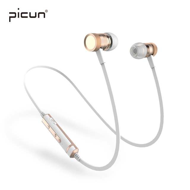 Picun H6 In-Ear Sport Running Wireless Bluetooth Headset Stereo Earphones Music Earbuds With Microphone Heavy Bass elivebuy one drag two bluetooth earphones hd sound stereo bass wireless headset noise reduction running mp3 music earbuds