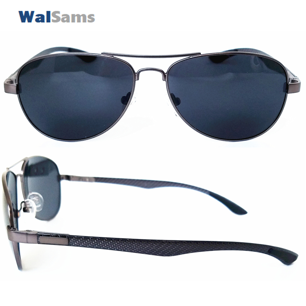 19fdb2b0d Metal Pilot Polaroid Sunglasses with Carbon Arm Lightweight and Polarized  Lens Sunglasses for Men Aviator Sunglasses Eyewear Cab-in Sunglasses from  Apparel ...