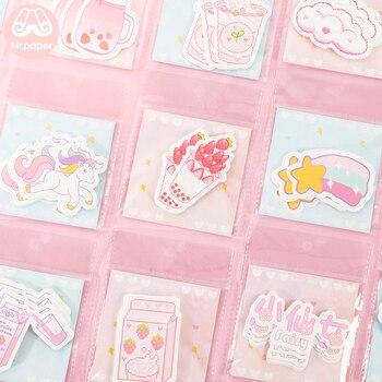 Mr Paper 30 sztuk/paczka 24 Ins Element Kawaii różowe niebieskie dziewczyny pokolenie notatniki samoprzylepne notatki kreskówka sok przekąski notatniki