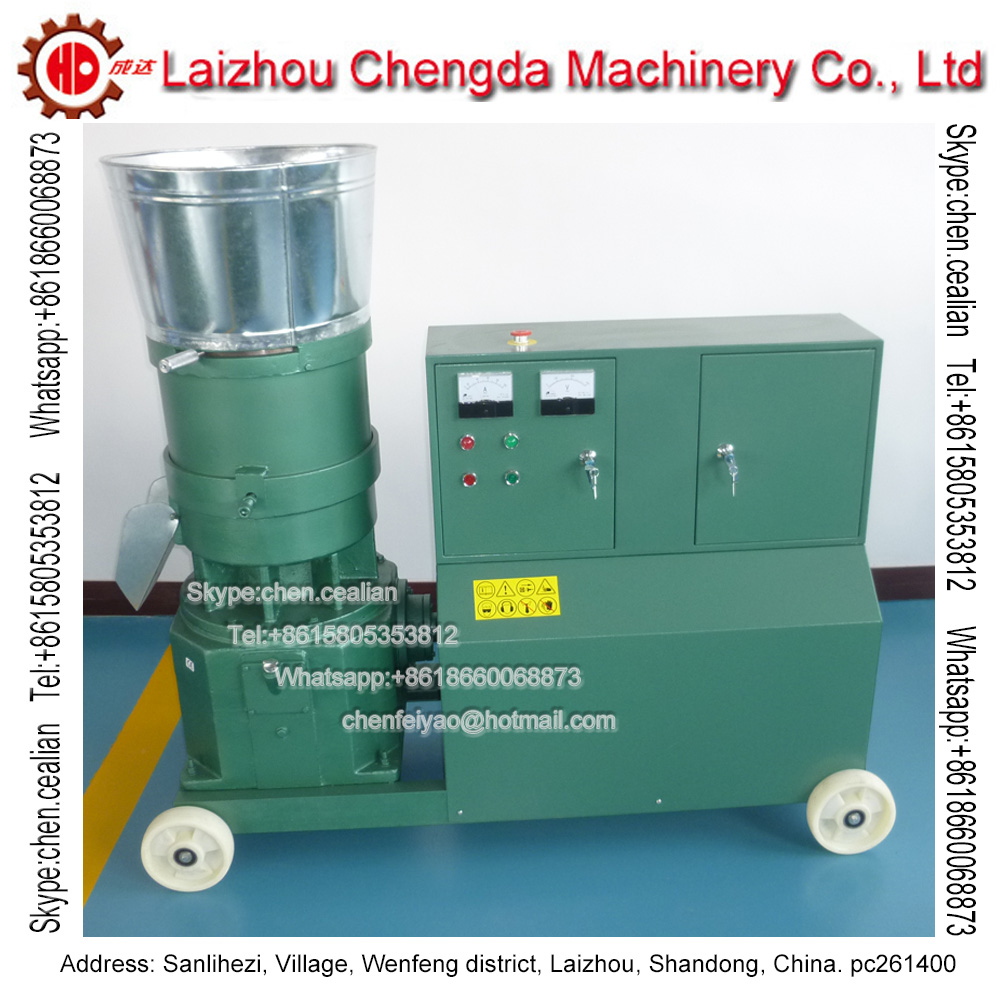 KL400C 30 Kw Three Roller Driven Electric Feed Wood Pellet Mill