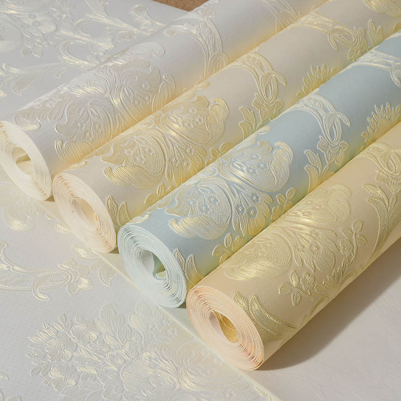 European style 3d wallpaper for living room non-woven wall paper background high-grade flowers wallpaper roll home decoration home improvement decorative painting wallpaper for walls living room 3d non woven silk wallpapers 3d wall paper retro flowers page 4