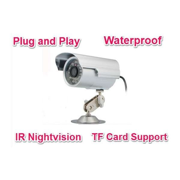 16GB Card+No Need Layout Cables Waterproof Outdoor Security Camera With Repeated TF Card Recording