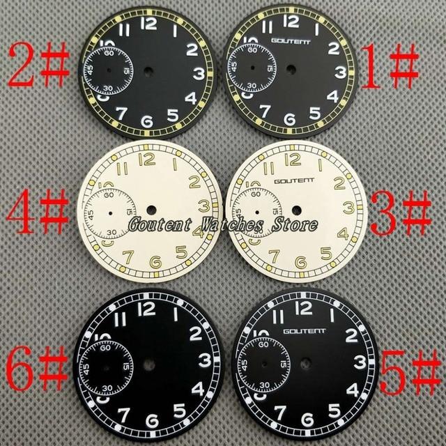36 8mm watch dial kit eta 6497 seagull st36 movement sterile watch