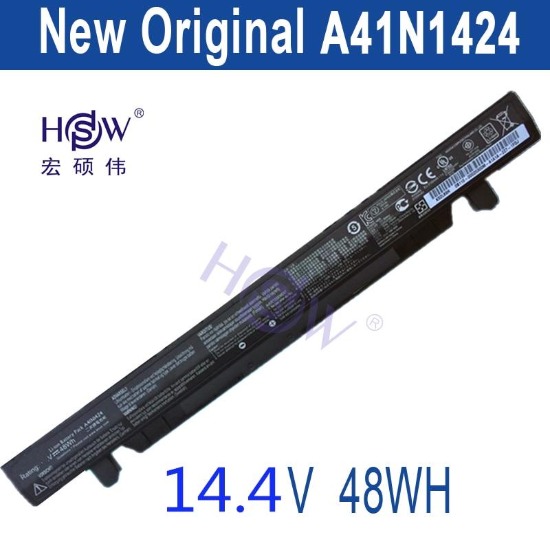 HSW A41N1424 14.4V 48WH Laptop Battery for ASUS FX-PLUS GL552 GL552J GL552JX ZX50 ZX50J ZX50JX JX4200 JX4720  bateria akku hsw brand new 96wh 11 4v c32n1415 li ion laptop battery for asus zenbook pro n501vw ux501jw ux501lw