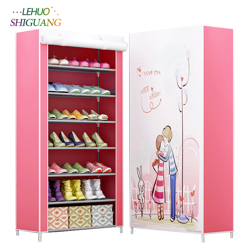 3D painting 8-layer 7-grid Shoe rack Non-woven fabrics large shoe cabinet organizer removable shoe storage for home furniture new shoe cabinet 9 layer 8 grid 3d drawing non woven fabrics large shoe rack organizer removable shoe storage for home furniture
