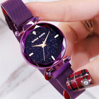 Watch Women Starry Luxury Brand Hannah Martin Bayan Kol Saati Fashion Cute Girls Bracelets Watch Popular Reloj Zegarek Damski