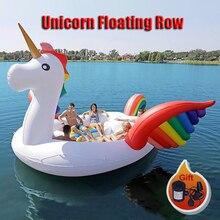 Напрямую с фабрики продаж ПВХ гигантский надувной Единорог повечерние плавок Вечеринка птица остров большая лодка животных для 6-8 человек