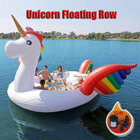 Factory directly sales PVC Giant Inflatable Unicorn Float Party Bird Island Big animal boat for 6 8persons