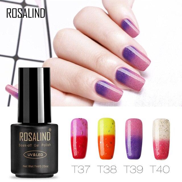 Rosalind Gel 1S 7ML Top Quality Nail Temperature Gel Polish Soak off ...