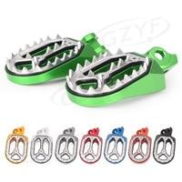 For Suzuki RMZ250 RMZ450 / RMZ 250 450 Racing Dirt Bike Foot Pegs Footrests Footpegs Sharp Teeth 2010 2015 CNC Aluminum